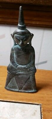 Old Laos Bronze Buddha--5 Inches Tall