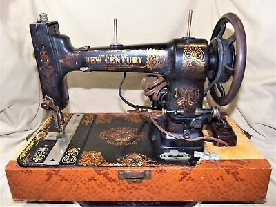 Antique ca. 1910 A.G. Mason Improved New Century Sewing Machine Runs Well 7635