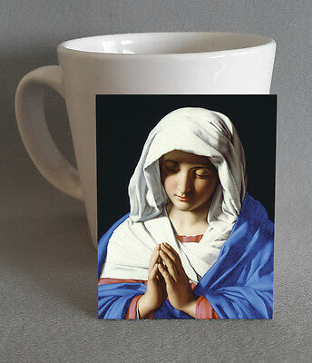 Fine country french miniature artwork of virgin Mary praying-great for dollhouse