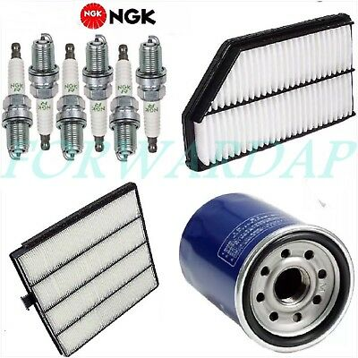 Tune Up Kit Cabin Air Oil Filters Spark Plugs for Acura MDX 3.5L; J35A5 Eng 2003