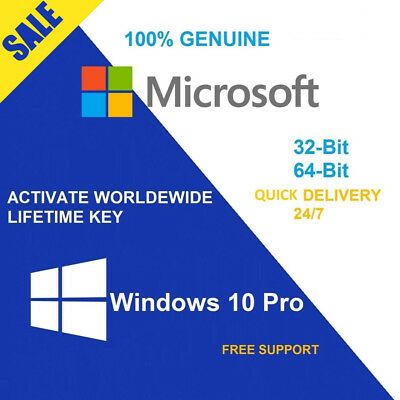 Windows 10 Professional 32 / 64 bit Product Key Genuine License Code Win 10 PRO