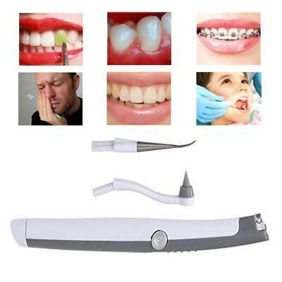 LED Sonic Teeth Professional Tooth Stain Eraser Cleaning Whitening Polishing New