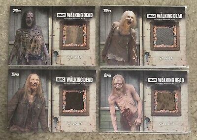 Topps The Walking Dead Season 6 Walker Relic Lot Of 4 - All Different - QTY