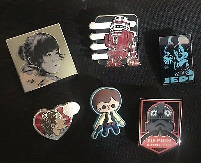 Authentic Disney Pin Star Wars Disney Pins Lot Of 5 + 1 Han Solo Pin