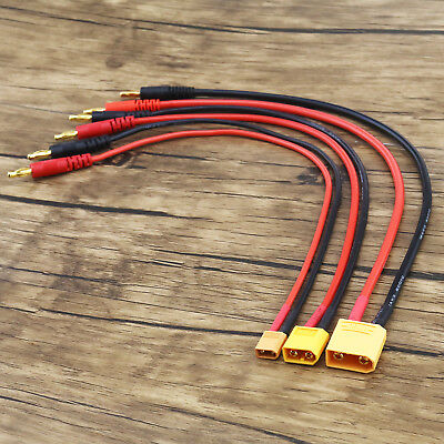 1x/2x XT30/XT60/XT90 4mm Banana Connector Plug Adapter Lead Battery Charge Cable