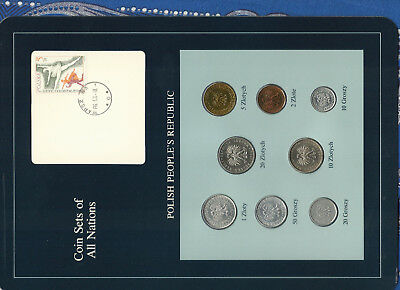 Coin Sets of All Nations Poland 1975-1985 UNC 1,2 Zloty 1977 10,20 Zlotych 1985