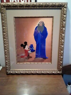 Disney Cel  A Lesson Learned Hand Painted Limited Edition 30/300 Mickey Mouse