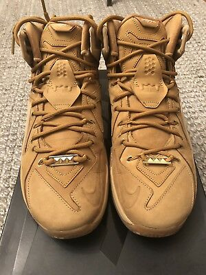 0d844549155ca LEBRON XII EXT QS 744287 700 Wheat   Gold Men s Basketball Sneakers ...