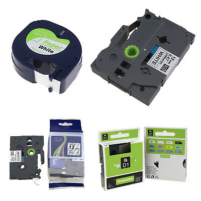 Tape Cartridge White Paper For DYMO LETRATAG Label Makers Brother Ptouch 4models