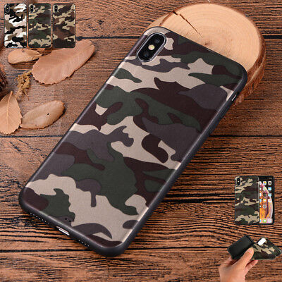 Cool Army Camo Army Green Soft TPU Case Cover For Apple iPhone 5S 6 7 8+ XS Max