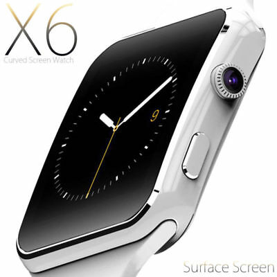 SMARTWATCH OROLOGIO iPhone ANDROID IOS CON SIM BLUETOOTH SMART WATCH X6 BIANCO K