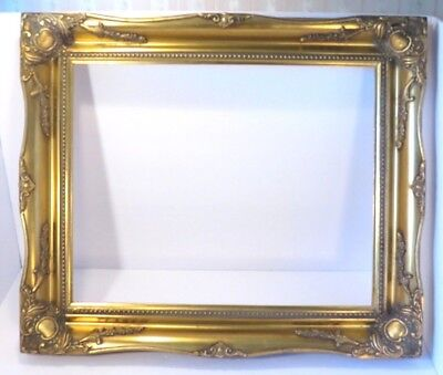 """Picture Frame-16"""" x 20"""" Vintage Antique Style Baroque Ornate Classy Museum Gold"""