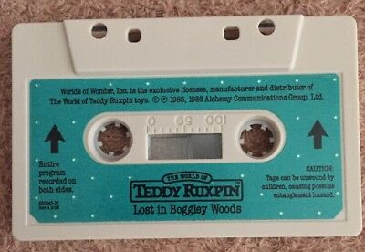 1986 Worlds of Wonder Teddy Ruxpin Lost In Boggley Woods NEW Tape