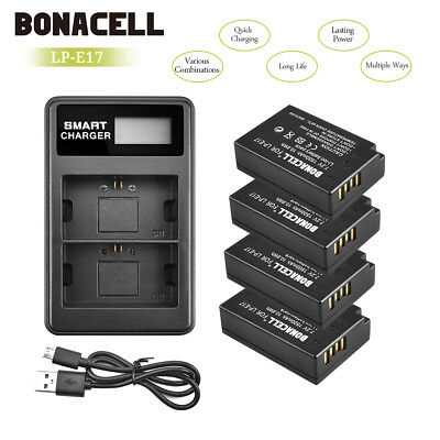 LP-E17 Replacement Battery and Charger for Canon M5 T6i T6s T7i 77D T6s 750D SL2