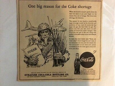 Early Coca Cola Newspaper Advertising. One Big Reason For The Coke Shortage