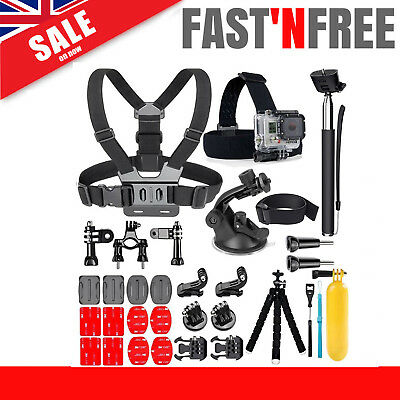 25-In-1 Action Camera Accessories Kit For GoPro Hero Video Cam Mount Tripod Set