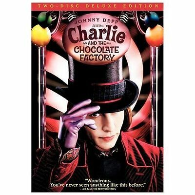 Charlie and the Chocolate Factory (DVD, 2005, 2-Disc Set, Widescreen Deluxe Edit