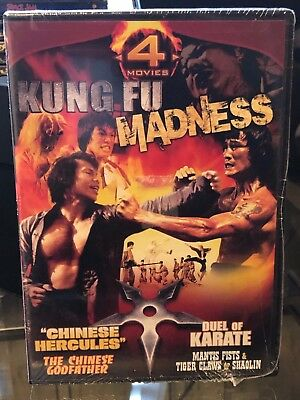 Kung Fu Madness - Chinese Godfather, Duel Of Karate, Mantis Fists & Tiger Claws,