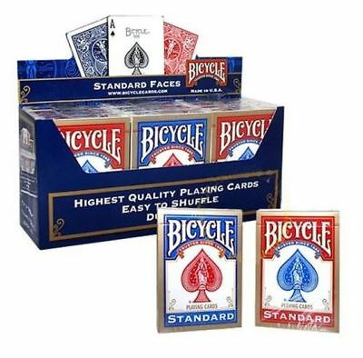 12 x BICYCLE RIDER BACK PLAYING CARDS 6 RED / 6 BLUE DECKS