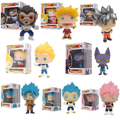 Funko Pop Dragon Ball Z Goku Broly Vegeta Beerus Vinyl Action Figure in Box US