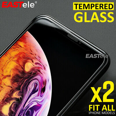 2x EASTele For Apple iPhone 8 Plus 11 Pro XS Max Tempered Glass Screen Protector