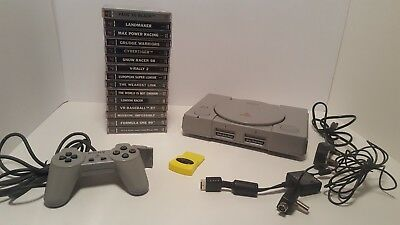 Sony PS1 (Playstation 1) Console Bundle with 15 Games and 1 Controller