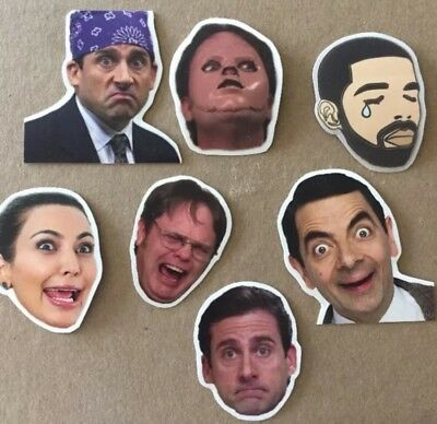 Sticker Set - The Office Dwight Schrute Michael Scott Kardashian Drake Mr. Bean