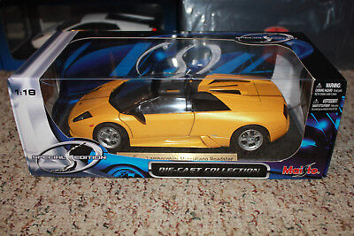 Maisto Giallo Yellow Over Slate Grey Lamborghini Murcielago Roadster