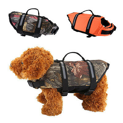 Pet Dog Swimming Life Jacket Float Vest Reflective Durable Water Saver Preserver