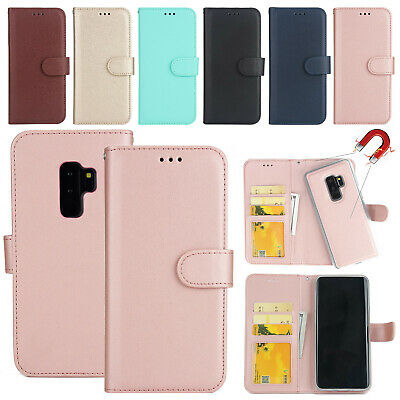 For Samsung Galaxy S5 S6 S7 Case Removable Magnetic Flip Leather Card Slot Cover
