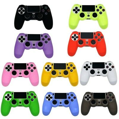 Silicone Controller Case Ps4 Dualshock 4 Cover Grip Joystick Rubber Caps