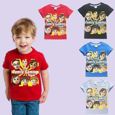 Roblox The Family Gaming Team Gamers Kids Boys Girls Cotton T-Shirts Great Gift