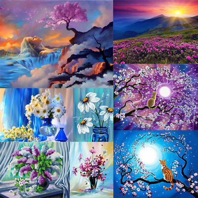 40*50cm Flowers DIY Paint By Numbers Kit Digital Oil Painting ArtHome Wall Decor