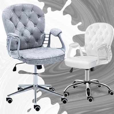 Home Office❤Luxury 360° Swivel Rocking Chair Computer Desk Lift Chair Fashion