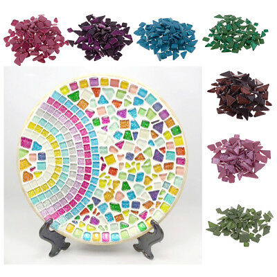1400g 7 Styles Multicolor Glitter Glass Mosaic Tiles For Home Decors Crafts