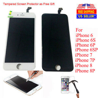 OEM LCD Display Touch Digitizer Screen Replacement For iPhone 6 6S 7 8 Plus+Gift