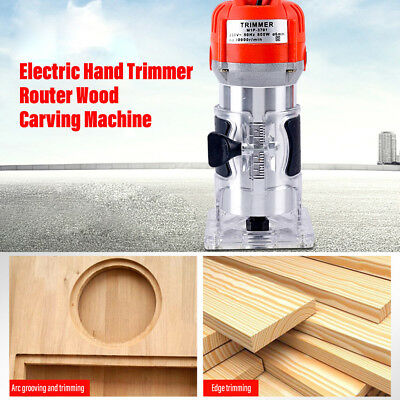 800W Electric Hand Trimmer Router Wood Carving Machine Joiner Tool 30000rpm EU