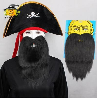Long Fake Beard Facial Hair Costume Party Halloween Fancy Dress False Pirate