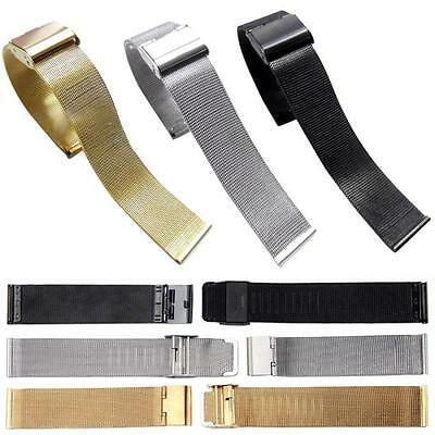 Milanese Stainless Steel Buckle Watch Mesh Band Strap Bracelet 18/20/22/24MM AA