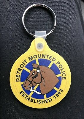 Detroit Mounted Police Key Chain
