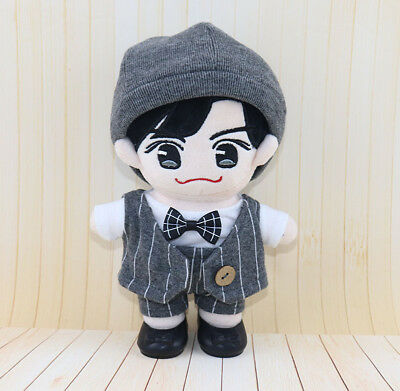 KPOP Shinee Nct EXO BTS Doll's Clothes Coat +T-shirt +Pants +Hat Suit【no doll】