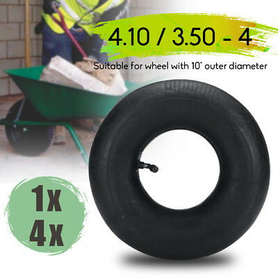 1x/4x 4.10/3.50-4 Inner Tube Tire For Pneumatic Trolley Wheel Bent Valve Air Set