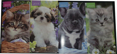 2019 Pocket Diary Two Week To View Cat / Dog Slim 2 Week View