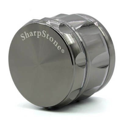 "SHARPSTONE 2.47"" Black Drum Tobacco Herb Spice 4 Layers Smoke Crusher Grinder"