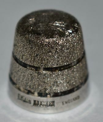 Beautiful Sterling Silver S J Rose THIMBLE 1972 Rough Texture ENGLAND Birmingham