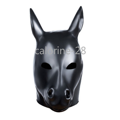 New Latex Mask Rubber Hood With Back Zipper Catsuit Party Wear Costumes Clubwear