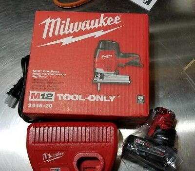 Milwaukee 2445-20 M12 Cordless Jig Saw + (1) 4.0AH Battery + (1) Charger ALL NEW