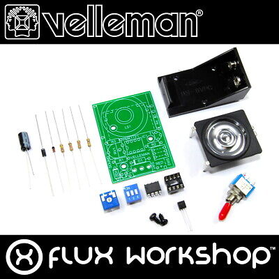 Velleman Siren Sound Generator Mini Kit MK113 Unsoldered DIY Fire Flux Workshop