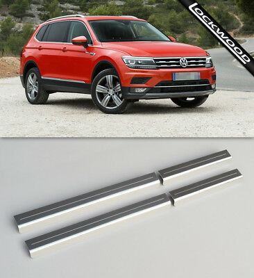 VW Tiguan Allspace (Released 2016) Stainless Sill Protectors / Kick Plates