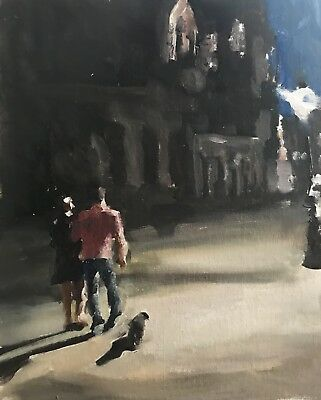 Night Walkers J.Coates Original Oil Painting Art Wall Art 8 x 10 inches